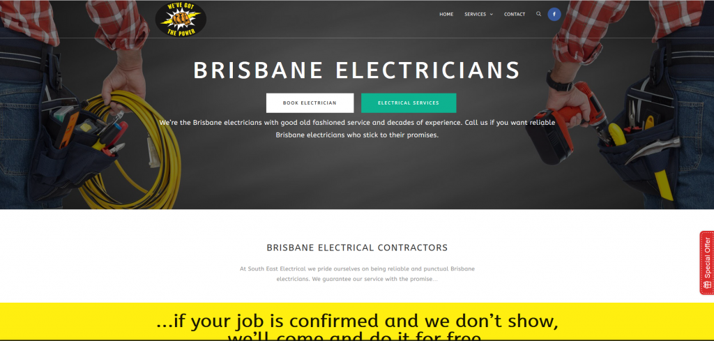 website of brisbane south east electrical