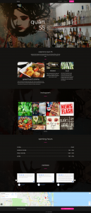 Website for Quan55 restaurant and bar