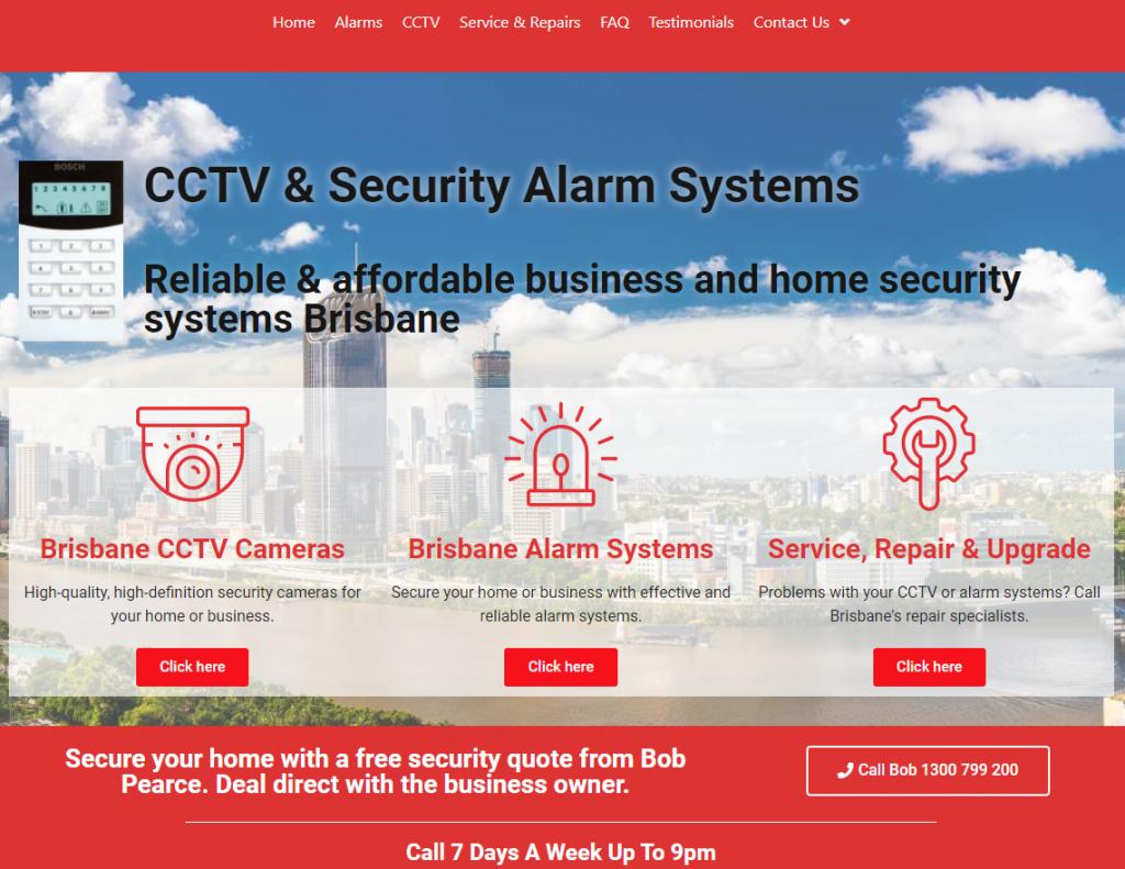 bob screen print of website