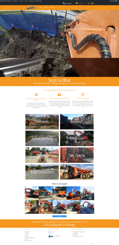 screen shot axles website